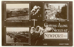 """Getting along nicely at Newport""- postcard (Rescued by Rover) Tags: street docks bush postcard commercial newport getting cp ernest along postale nicely carte monmouthshire alteryn"