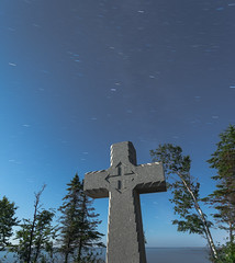 Cross (TofteTom) Tags: minnesota nightscape father northshore rivers schroeder lakesuperior baraga perseids perseidmeteorshower crossriver fatherbaragascross