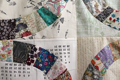Two rows of rings sewn up! (_name_taken_) Tags: libertyoflondon denyseschmidt singlegirlquilt lowvolumefabric