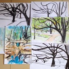 trees (Polina Ganzina) Tags: flowers art watercolor painting artist canvas oil sochi artstag