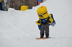 Minion On Skis (Joe Shlabotnik) Tags: winter snow vermont skiing okemo 2014 faved slushcup minion despicableme afsdxvrnikkor55300mm4556ged april2014
