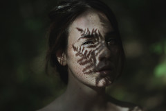 (Alessio Albi) Tags: light shadow portrait woman nature girl beauty leaf