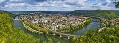 Vista desde la Croix de Magne, Cahors (F) (Panoramyx) Tags: panorama france frankreich lot frança panoramica francia hdr cahors midipyrénées caors