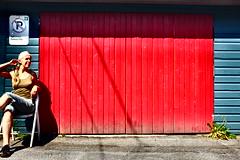 Authorized To Park It (eddi_monsoon) Tags: portrait selfportrait self garage 365 garagedoor selfie threesixtyfive fujix100s
