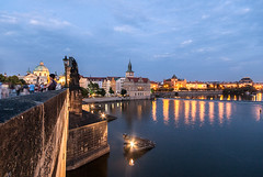 At night (Bless your life) Tags: bridge architecture cityscape waterfront czech prague praha praga most architektura czechy