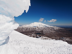 Mt Ruapehu (blue polaris) Tags: park new winter snow ice landscape island volcano climb scenery mt crossing north olympus mount zealand alpine national summit tongariro ngauruhoe ruapehu omd em5