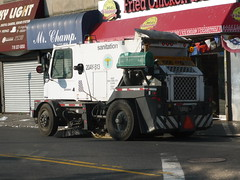 NYC DOS Allianz 4000 (JLaw45) Tags: road street new york city public one garbage seat utility clean queens government service borough far rockaway sanitation sweeper allianz downstate
