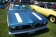 1969 Plymouth Barracuda convertible (osubuckialum) Tags: show blue columbus ohio classic cars 1969 car plymouth convertible views oh mopar 69 cuda nationals barracuda 1000 carshow 2014 moparnationals nationaltrailraceway