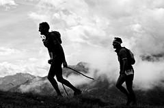 Alpine Marathoners (Leo Marco) Tags: sky bw white black mountains alps sport clouds montagne nuvole marathon bn alpine tired sweat alpi bianco nero maratona fatica marathoners stanchezza sudore maratoneti skymarathon