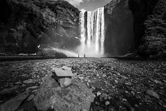 In Awe (Explore) (matt_frankel) Tags: bw white black water monochrome waterfall iceland nikon nikkor f4 skgafoss d600 1635mm