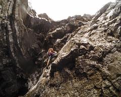 Cave - Pula, Croatia. (demarante) Tags: water deep croatia climbing climber escalada pula kroatien soloing kletten