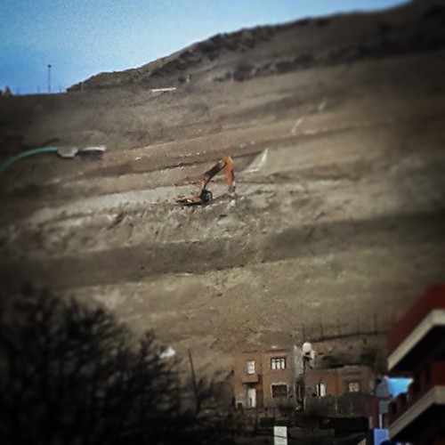 #bulldozer #house #mountain #WTF