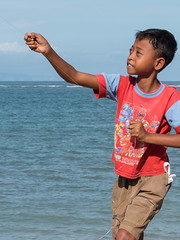 Kite-Boy (Rainer ) Tags: bali kite color ngc indonesien sanur drachen kiteboy rainer
