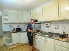 Koken in het nieuwe hostel