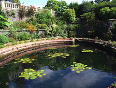 Lily pond at Bodnant Garden, Tal-y-Cafn, Conway (Snapshooter46) Tags: nationaltrust conwy lilypond bodnantgarden talycafn