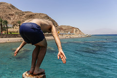 Water Jumping (Dan Ydov) Tags: blue sea sports water canon lens jump eilat 6d 2470mm f4l