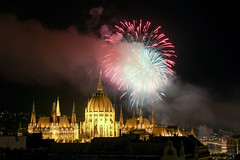 Fireworks Show in Budapest on St. Stephen's Day 2014 August 20. - 12 (Romeodesign) Tags: show longexposure night hungary fireworks budapest ceremony parliament illuminated national parlament ststephen 550d