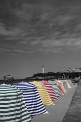 Biarritz passing through time... (ZeGaby) Tags: bw france blackwhite pentax biarritz noirblanc k3 landes aquitaine tamron70300 hintofcolor vacances2014landes