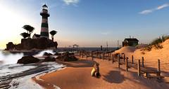 Goodbye Summer (Teddi Beres) Tags: life summer lighthouse beach landscape scenery surf sl shore second shack