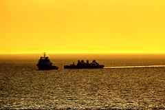 Schiffe in der Abendsonne - Ships in the evening sun