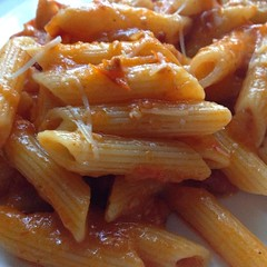"Dinner tonight was extraordinary!  We had never made Pasta All'Amatriciana before, but I can promise that we will be making it again very soon.  It was so delicious and full of flavor.    I can see this becoming a weekly family meal during the winter.  I • <a style=""font-size:0.8em;"" href=""https://www.flickr.com/photos/54958436@N05/15055077207/"" target=""_blank"">View on Flickr</a>"