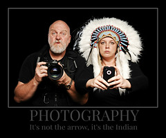 Of Photography, Arrows and Indians (Studio d'Xavier) Tags: photography indian motivation 365 demotivator iphone 365days werehere 239365 motivationparody august282014 nikond5x