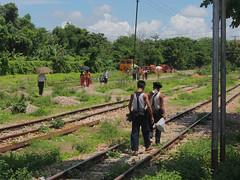 The Yangon Circular Railway (Clay Gilliland) Tags: railroad travel diesel yangon railway trainstation myanmar passengertrain asianrailway yangoncircularrailway yangoncirculartrain