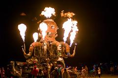 306. El Pulpo Mecanico (prenetic) Tags: green ford bicycle truck fire mechanical 4x4 flames playa burningman octopus propane kraken epm elpulpomecanico bm2014 burningman2014