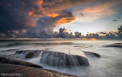 Wave (Mikko Lnnberg) Tags: sunset sea sky cloud sun seascape color clouds canon suomi landscape photography landscapes scenery seascapes explore pori kallo 5dmkiii mikkolo mikkolnnbergphotography 1635f4lis