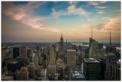 View from TOTR (go4silver) Tags: new york city sunset rock skyline sonnenuntergang top totr