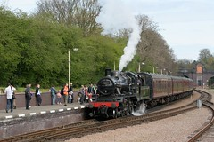 78019 LEICESTER NORTH 090407 (DavidsTransportPix) Tags: 260 steamlocomotive greatcentralrailway britishrailways gcr 78019 2mt standard2mt tenderlocomotive