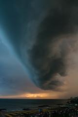 Evening Storm I (Fer Gonzalez 2.8) Tags: storm mdq mardelplata beach laperla handshape clouds amazing leicadlux4 landscape buildings sea