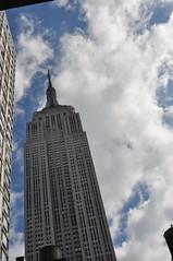 New York City (GuyDeckerStudio) Tags: new york city tower building street taxi car windows floors brick story flat iron empire state clock amercian flag sign