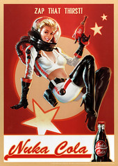 Nuka Cola sign by Trends International (FranMoff) Tags: sign pinup red raygun advertisement pinupgirl spacegirl spacehelmet nukacola fallout cola