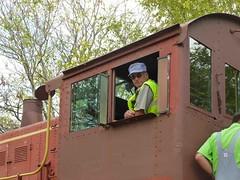 The engineer (Jer*ry) Tags: train railroad excursion ride northalabamarailroadmuseum vintage antique preservation locomotive engineer volunteer alcos2