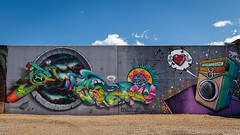 Graffiti Wall, St. Louis summer 2016 (bd_c2c) Tags: ifttt 500px 70d adobe art attraction blue skies sky canon city colorful daytime downtown efs1018mm f4556 is stm eos graffiti wall hdr lightroom missouri paint louis 2016 photoshop riverfront saint spray painting st summer sunlight white puffy clouds william davis photography williamdavisphotgraphysmugmugcom