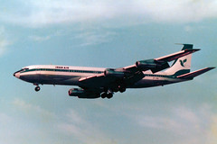 EP-IRM Boeing 707-386C cn 20288 ln 839 Iran Air Heathrow 22Sep78 (kerrydavidtaylor) Tags: boeing707 being707300 boeing707300c