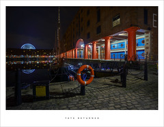Tate returned (Parallax Corporation) Tags: tateliverpool albertdock nightime ship lifebelt longexposure wideangle merseyside columns reflections