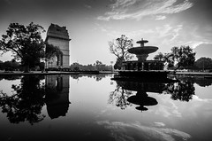 DSC_0123-2 (roniit.singh06) Tags: travel wideangle morning india gate reflection