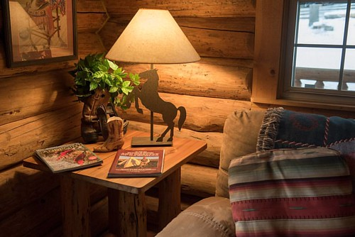 The rain just keeps coming down here on the ranch. This is the perfect spot for a wet fall day! What book would you read in this cozy cabin?  #wpguestranch #guestranch #duderanch #cabin #cozy #cozycabin #cabinlife