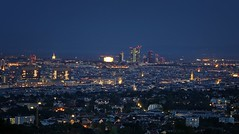 Wien bei Nacht (Marcus Rahm) Tags: vienna wien sterreich austria stadt city citylights cityscape capital night nightshot nacht nachtaufnahme nachtfotografie bluehour blauestunde aussicht aussichtspunkt view viewpoint longexposure longtimeshot