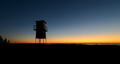 Watching and Waiting Part II (ajecaldwell11) Tags: surflifesaving oceanbeach hawkesbay newzealand watchtower ankh ocean water clouds sky tide dawn caldwell sunrise light