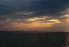 Утро, Джарылгачский залив \ Dzharylgach bay in the morning (michael.klokta) Tags: 35мм плёнка nikon f80 nikkor af 50mm f18 лазурное херсонская август 2014 35mm film lazurnoe kherson ukraine black sea filmphoto утро джарылгачский залив dzharylgach bay morning rays ray sunrise wind turbine turbines seascape