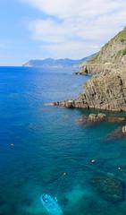 Ligurian Coastline (calumccampbell) Tags: italy italina italian sun water travel holiday mediterranean med trip canon 1855 60d vernazza liguria ligurian peninsula cinque terre cinqueterre monterosso manarola corniglia riomaggiore la spezia train family sea ocean river canal blue