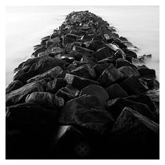 Jagged (picturedevon.co.uk) Tags: lyme regis dorset uk long exposure fine art minimal seascape sea waves mono coast seaside black white