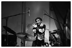Idris Ackamoor & The Pyramids @ Cafe Oto, London, 19th November 2016 (fabiolug) Tags: drummer drums idrisackamoorthepyramids idrisackamoor thepyramids pyramids jazz spiritualjazz spacejazz avantgarde avantgardejazz cafeoto london dalston music gig performance concert live livemusic leicammonochrom mmonochrom monochrom leicamonochrom leica leicam rangefinder blackandwhite blackwhite bw monochrome biancoenero zeisscsonnartf1550mmzm zeisszm50mmf15csonnar zeisscsonnar zeisssonnar zeiss sonnar 50mm sonnar50mm 50mmf15