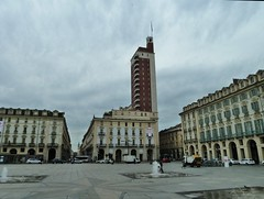 Delightful fascist addition to Piazza Castello. Around Turin in 2014 (Kevin J. Norman) Tags: torino turin italy piedmont piazzacastello