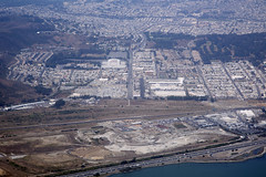 Aerial view of the Cow Palace, Brisbane, Daly City, and San Francisco, California (cocoi_m) Tags: aerialphotograph cowpalace brisbane dalycity sanfrancisco sanmateocounty sanfranciscocounty california sanfranciscobay highway101