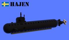 Hajen-class Submarine (Matthew McCall) Tags: lego submarine navy moc military war