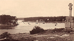 Pointe de Langle - Baie de Conleau (breizhphotographer) Tags: conleau vannes sea seaside seascape sailing sene goulet breizh bretagne brittany antan jadis autrefois sepia france morbihan maritime mer golfedumorbihan 56
